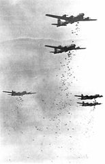 B29s Dropping Bombs on Japan