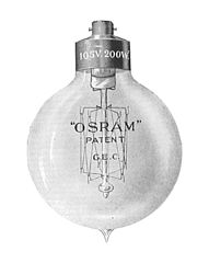 Osram lamp 1910 high candle power type Forty Years of Electrical Progress