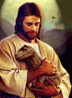 Jesus-hugging-a-dinosaur-750x1024